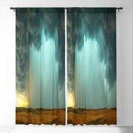 Open the Heavens - Panoramic Storm with Teal Hue in Northern Oklahoma Blackout Curtain