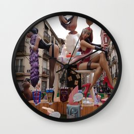 Fallas is an UNESCO world heritage Valencia, Spain Wall Clock