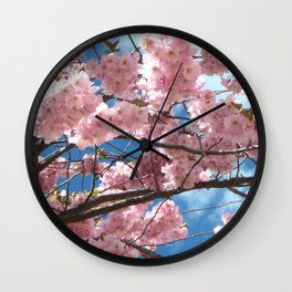 Cherry Tree In Bloom Wall Clock