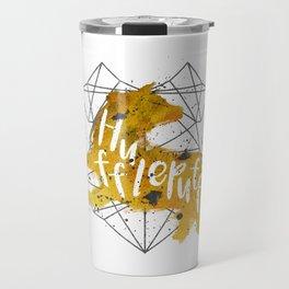 Hufflepuff Black Splatter Travel Mug