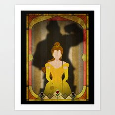 Shadow Collection, Series 1 - Rose Art Print