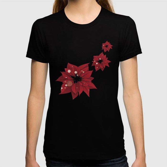 Poinsettias - Christmas flowers | BG Color II T-shirt