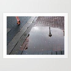 Dublin puddle Art Print