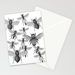 Bees and wasp Flying Stationery Cards