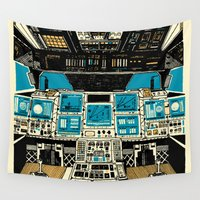 outer space Wall Tapestries featuring To Outer Space! by Ben Chlapek
