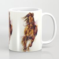 horse Mugs featuring Horse by beart24