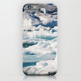 Icebergs in the Land of Fire and Ice iPhone Case