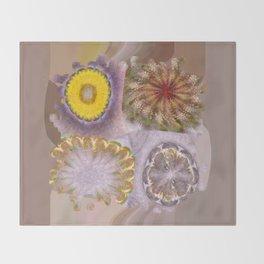 Paligorskite Being Flower  ID:16165-060146-91170 Throw Blanket