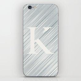 Striped K iPhone Skin