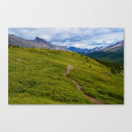 Views Along the Wilcox Pass Trail in Jasper National Park, Canada Canvas Print