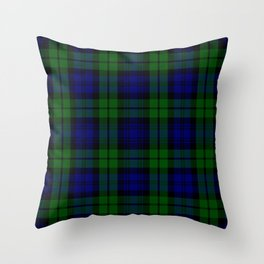 Scottish Campbell Tartan Pattern-Black Watch #1 Throw Pillow