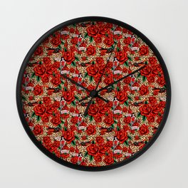 lucky devil pinup Wall Clock