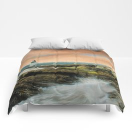 Marshall Point Sunset Comforters