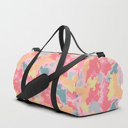Peachy Retro Waves Duffle Bag