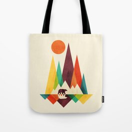 Bear In Whimsical Wild Tote Bag