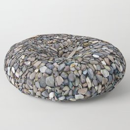 What Stories You Could Tell... Rocks of Jasper Beach Floor Pillow