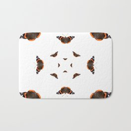 "Butterflies of the specie ""Vanessa atalanta"" Bath Mat"