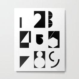 numbers Metal Print