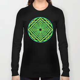 Diamonds in the Rounds Blacklight Neons Yellow Greens Long Sleeve T-shirt