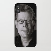 stephen king iPhone & iPod Cases featuring Stephen King by Giampaolo Casarini