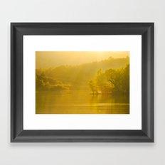 Rydal Evening Sun  Framed Art Print