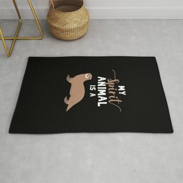 Spirit Animal Funny Otter Gifts Otter Lover Gifts Rug