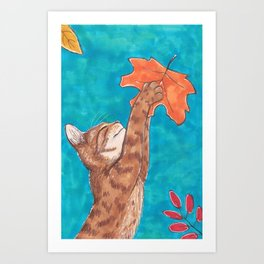 Catch! Art Print