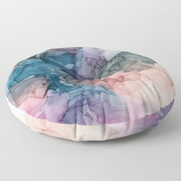 Heavenly Pastels 2: Original Abstract Ink Painting Floor Pillow