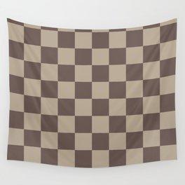 Coffee Qua Humus Checkerboard Wall Tapestry