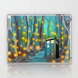 Tardis in the Glow Laptop & iPad Skin