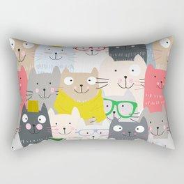Cute Cat Pattern Rectangular Pillow
