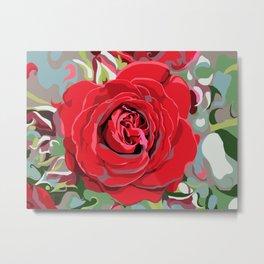 Blooming Red Rose Metal Print