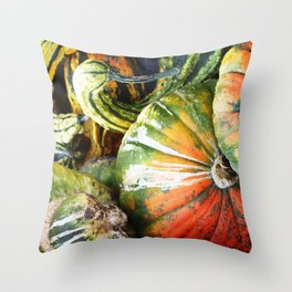 Squashed Together Throw Pillow