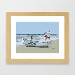 Avalon, Cooler by a Mile Framed Art Print
