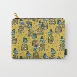 Pineapple - Mustard By Andrea Lauren Carry-All Pouch