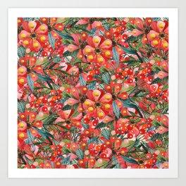 Rouge Bonheur Art Print