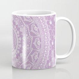 Secret garden mandala in pale lavender Coffee Mug