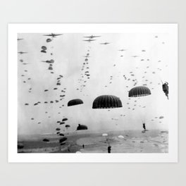 Airborne Mission During WW2 Art Print