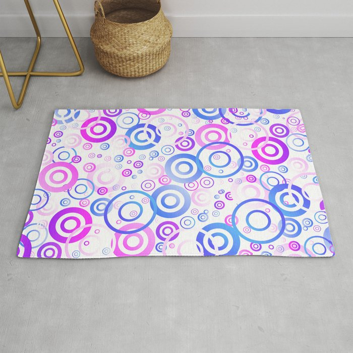 Purple Circular Pattern Rug By Jeffgini
