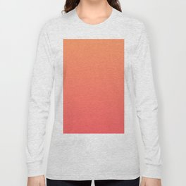 Orange Coral Long Sleeve T-shirt