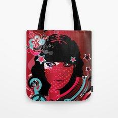 retro girl Tote Bag