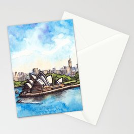Sydney ink & watercolor illustration Stationery Cards