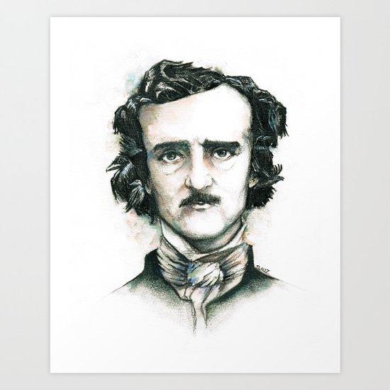 Edgar Allan Poe and Ravens Art Print