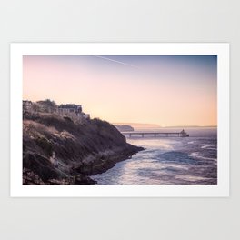 Clevedon Sea front Art Print