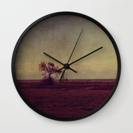 tree landscape Wall Clock