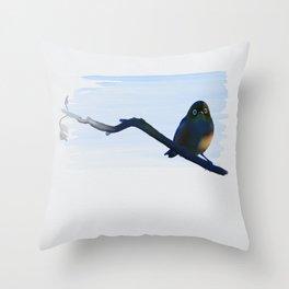 Eye to Eye with Silvereye Throw Pillow