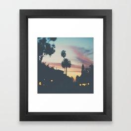 Sunset in Balboa Park print Framed Art Print