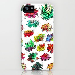 Watercolor Succulents iPhone Case