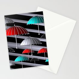 time for umbrellas Stationery Cards