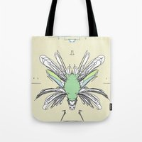 insect Tote Bags featuring INSECT PROJECT by  ECOLARTE